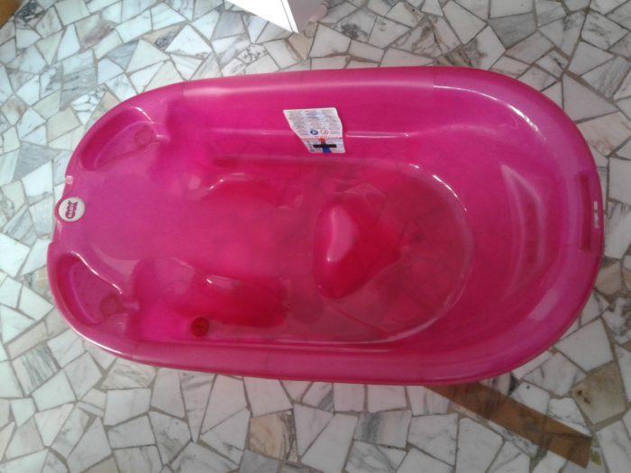 Ok Baby vaschetta bagno rosa