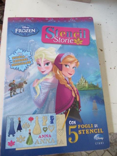 Frozen storie Stencil libro